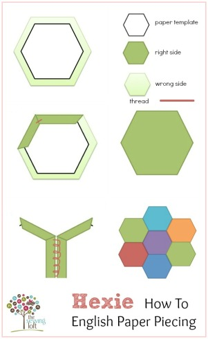Easy-Hexie-Paper-Piecing